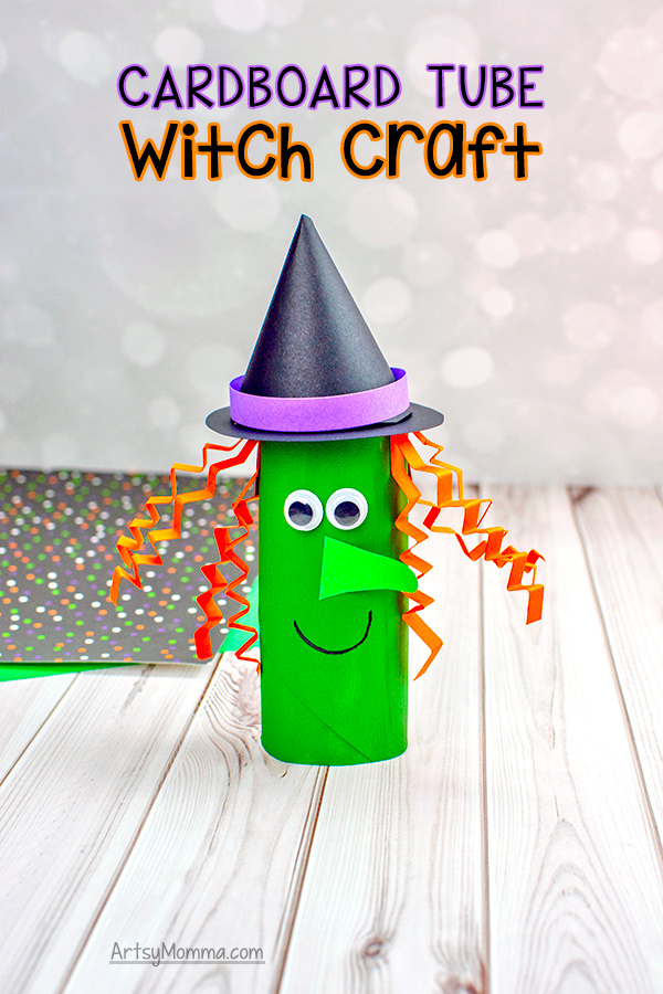 Recycled TP Tube Witch Craft for Halloween