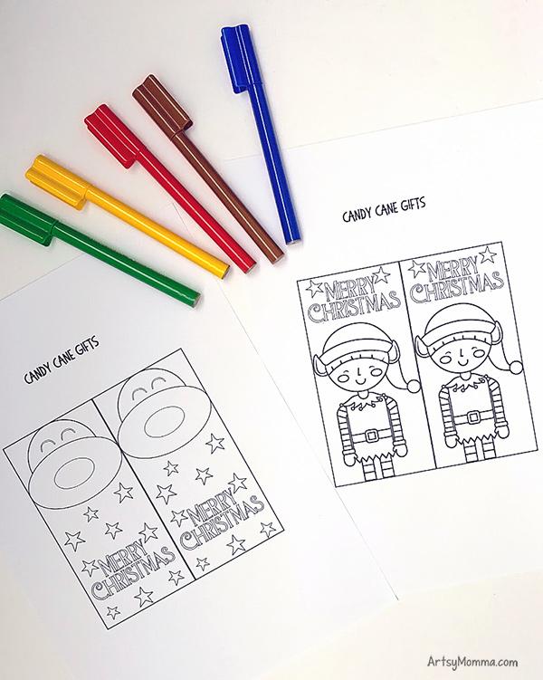 Candy Cane Holder Templates for Elf & Reindeer