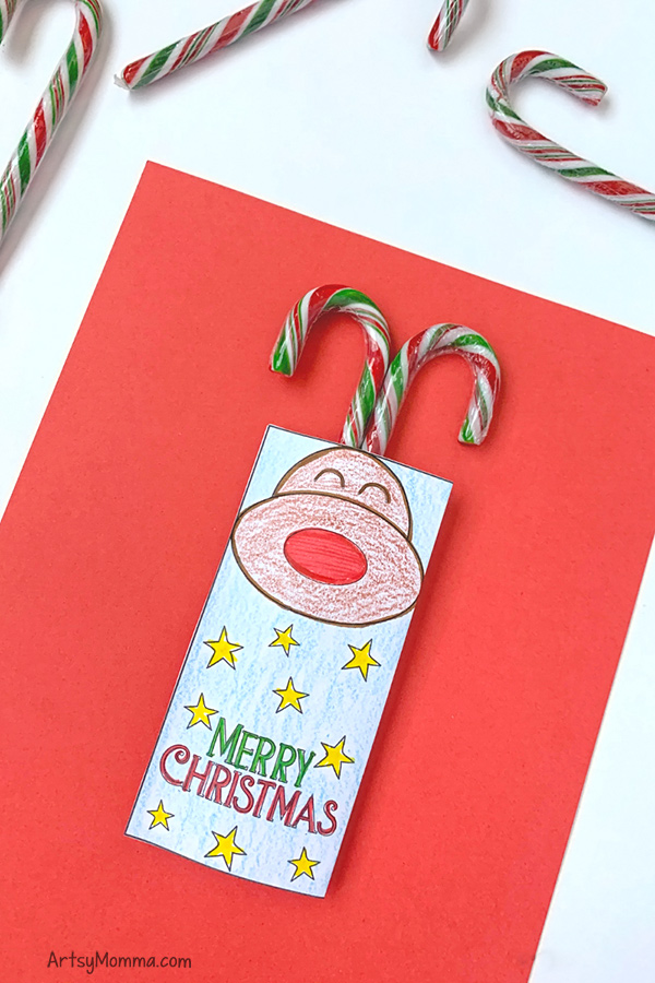 Printable Reindeer Candy Cane Party Favors