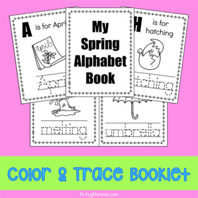 Seasonal Alphabet Mini Book Printables – Color & Trace