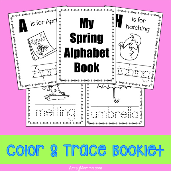 Spring Words from A to Z Coloring Book