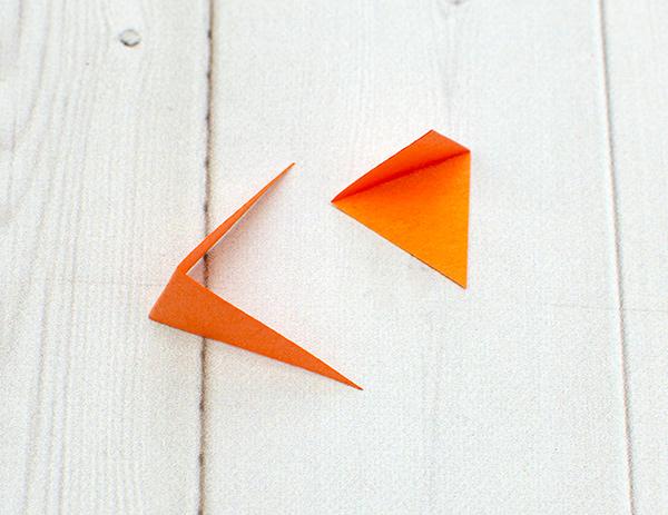 small, folder paper beaks