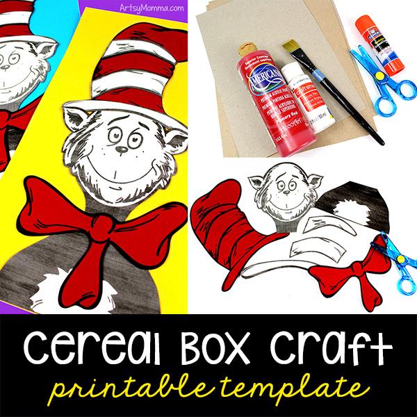 Cat in Hat cereal box craft