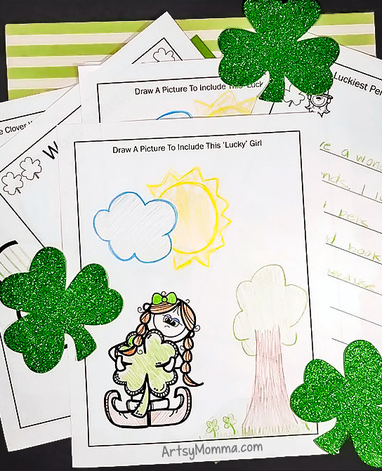Free Printable St. Patrick's Day Activity Pack: Word Search, Drawing Prompts