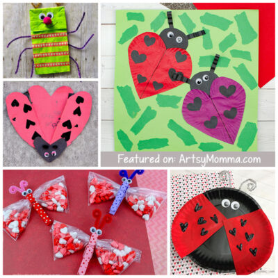 Cute Love Bug Crafts for Valentine's Day