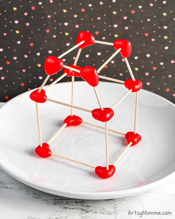 Heart Jelly Bean Toothpick Structure