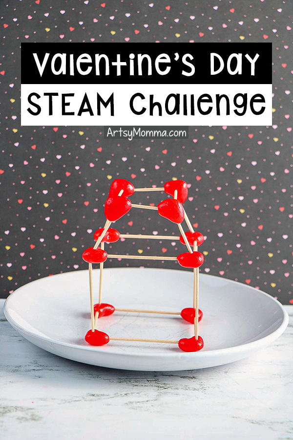 Valentine's STEM Challenge with toothpicks and jelly beans
