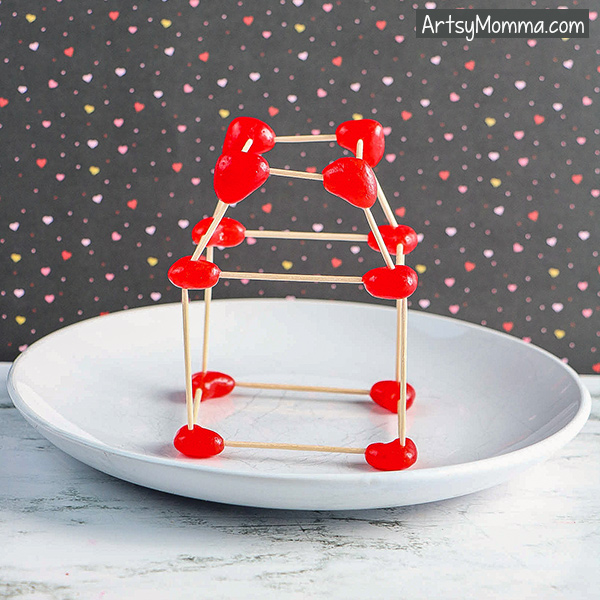 Heart Jelly Bean Toothpick Structures STEM – STEAM Challenge