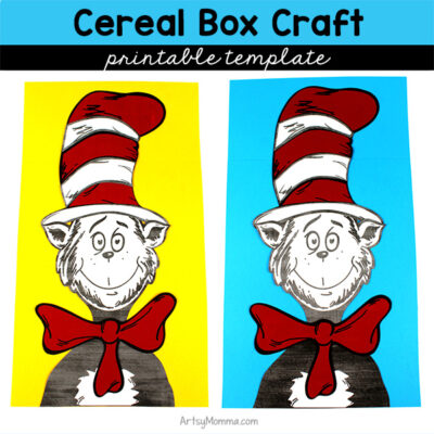 Printable Cat in the Hat Cereal Box Craft