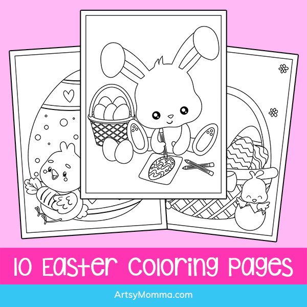 10 Easter Coloring Pages