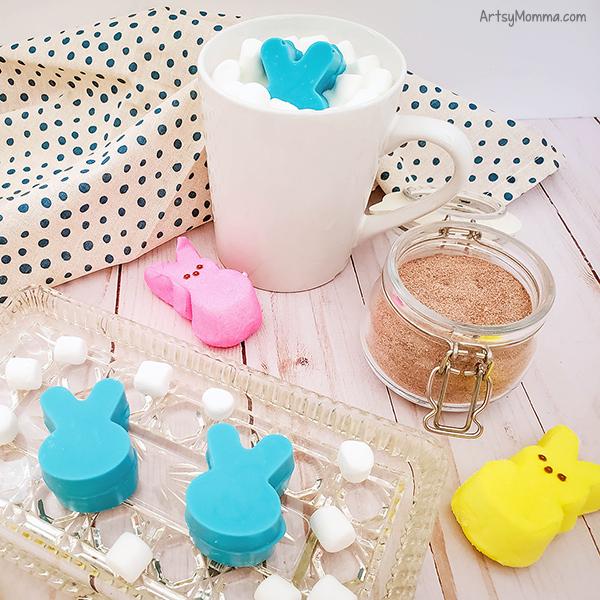 Homemade Easter Bunny Hot Chocolate Bombs
