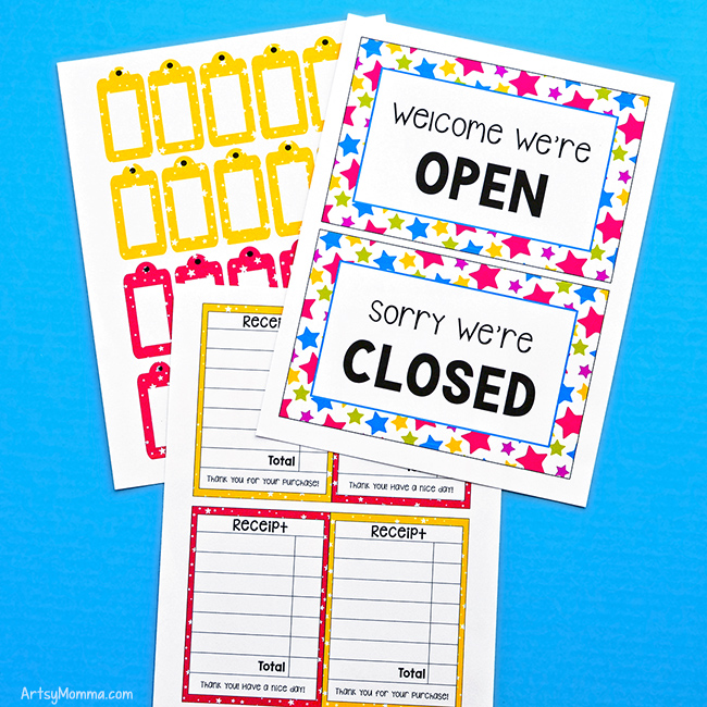 Pretend Shop Printables: Open/Closed Signs, Receipts, Price Tags