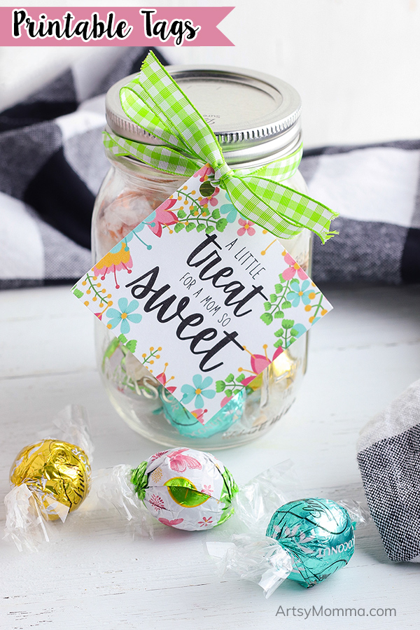 DIY Treat Jar Gift with Printable Tag for Mom