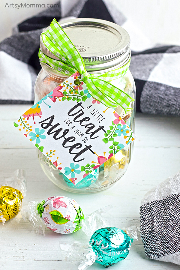 Printable Treat Gift Tag for Mother's Day on a Jar or Candy