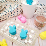 Homemade Easter bunny hot chocolate bombs