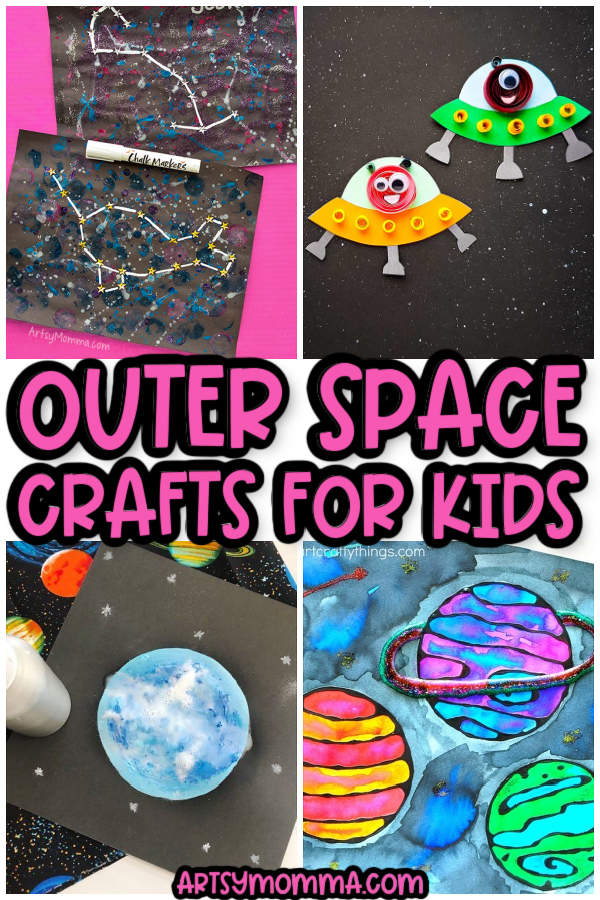 Outer Space Projects for Kids: constellations, planets, UFO