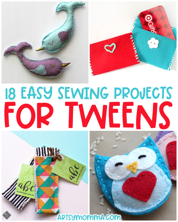 Beginner Sewing Projects for Tweens using felt