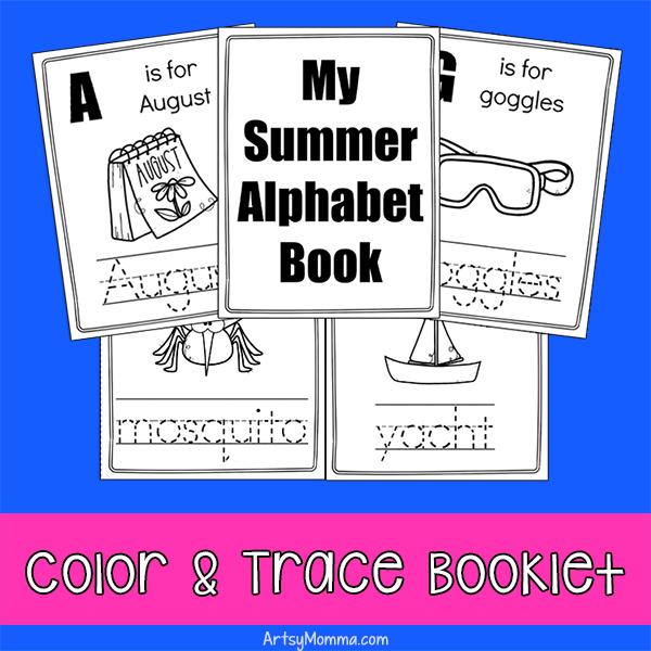 Printable Mini Book - Summer Alphabet Words