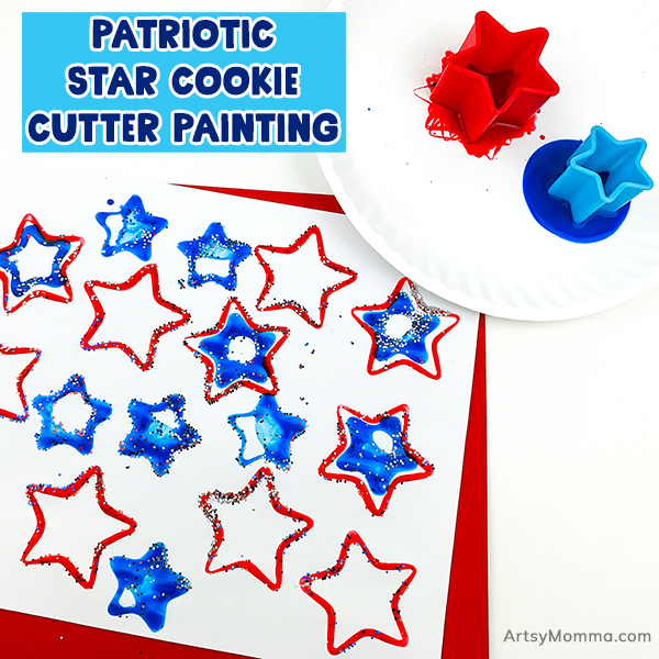 Sparkly Star Cookie Cutter Painting Craft