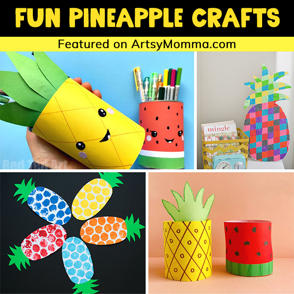 Colorful Pineapple Crafts